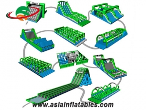 inflatable obstacle course challenge game