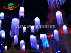 Inflatable jellyfish light stage decoration