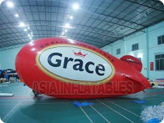 Inflatable Red Blimp Helium Balloon