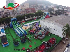 Mega Double Lane Inflatable Water Slide